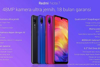 Spesifikasi Redmi Note 7 Indonesia