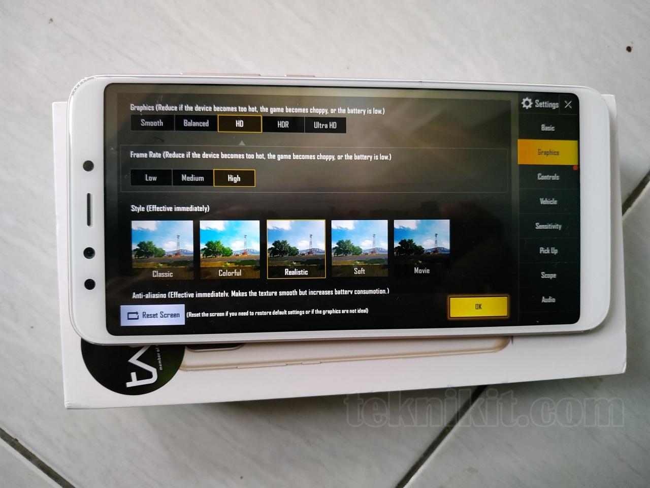 Seting PUBGM Xiaomi Mi A2 Mentok HD