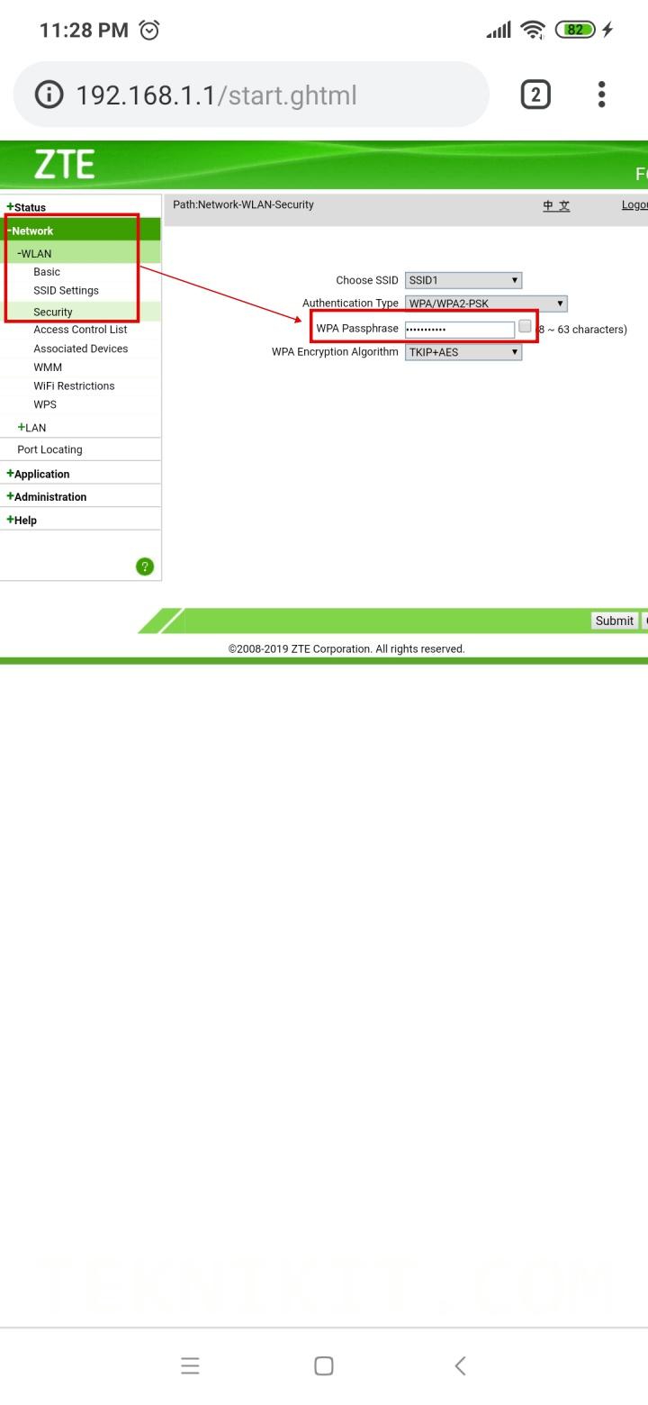 Mengganti Password Wifi Router Indihome