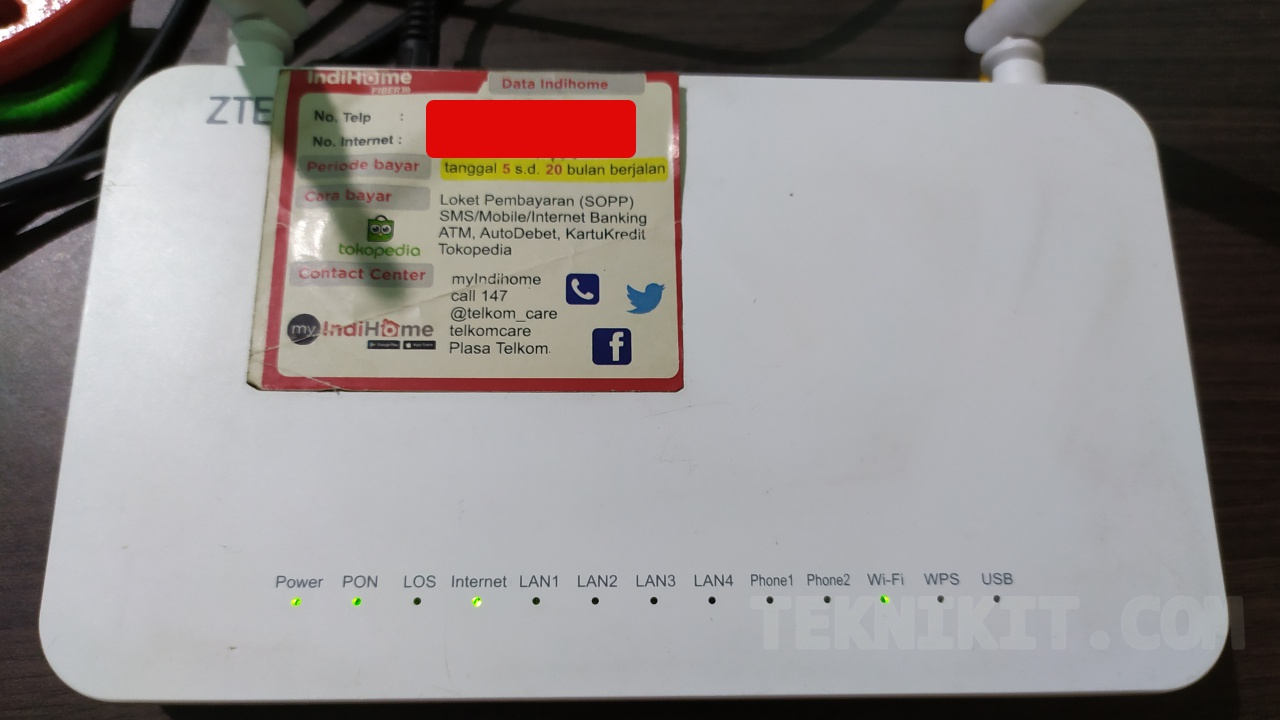 Router Indihome Posisi Normal Semua Lampu Indikator Menyala Normal