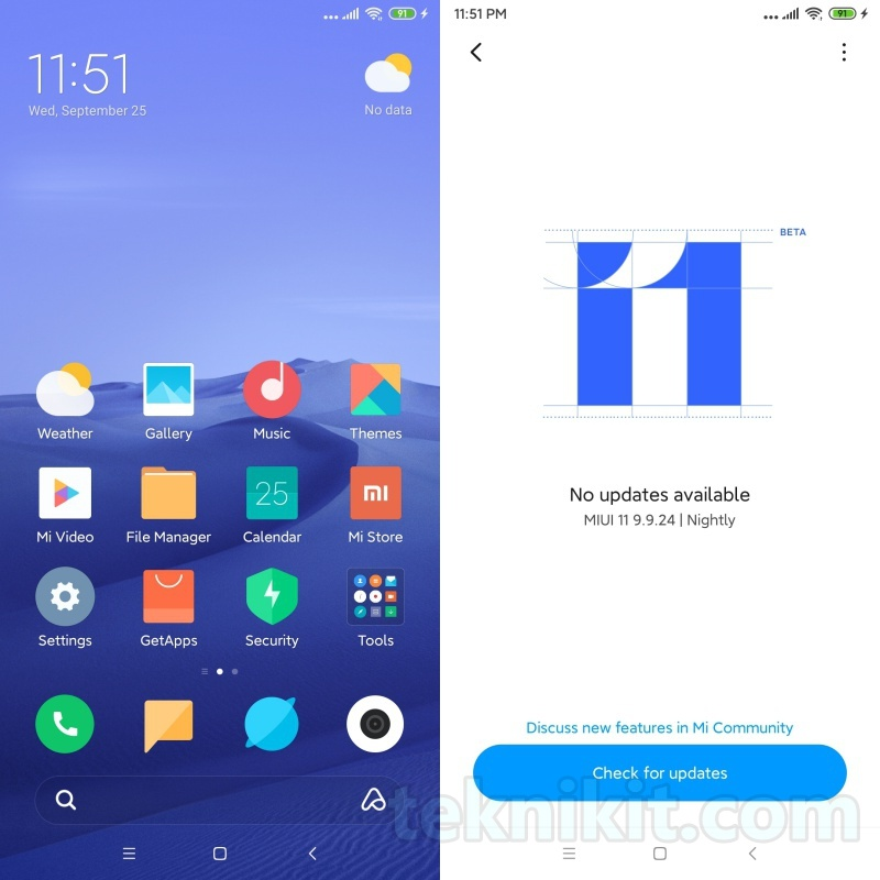 Download MIUI 11 Semua HP Xiaomi