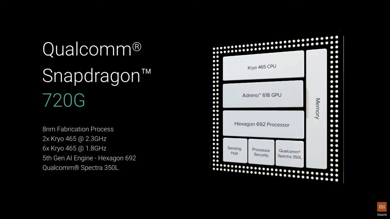 Chipset Qualcomm Snapdragon 720G Redmi Note 9 Pro