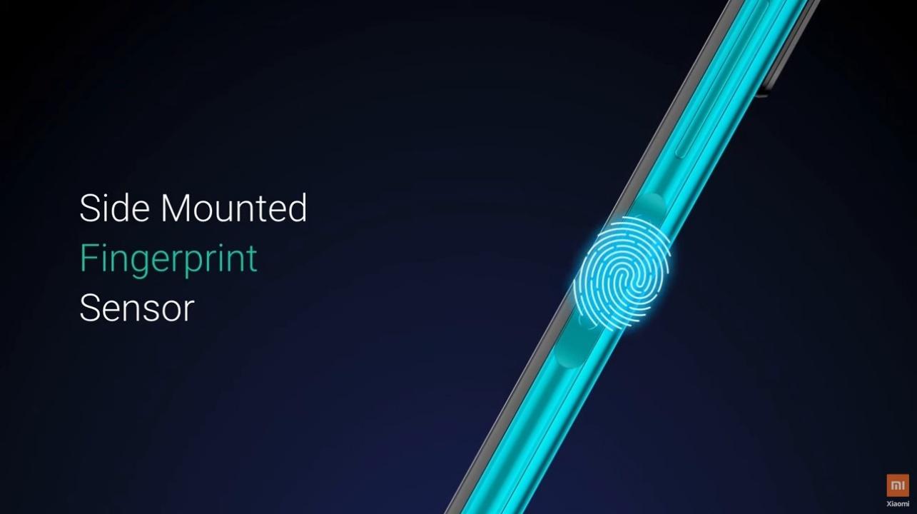 Desain Side Mounted Fingerprint Redmi Note 9 Pro