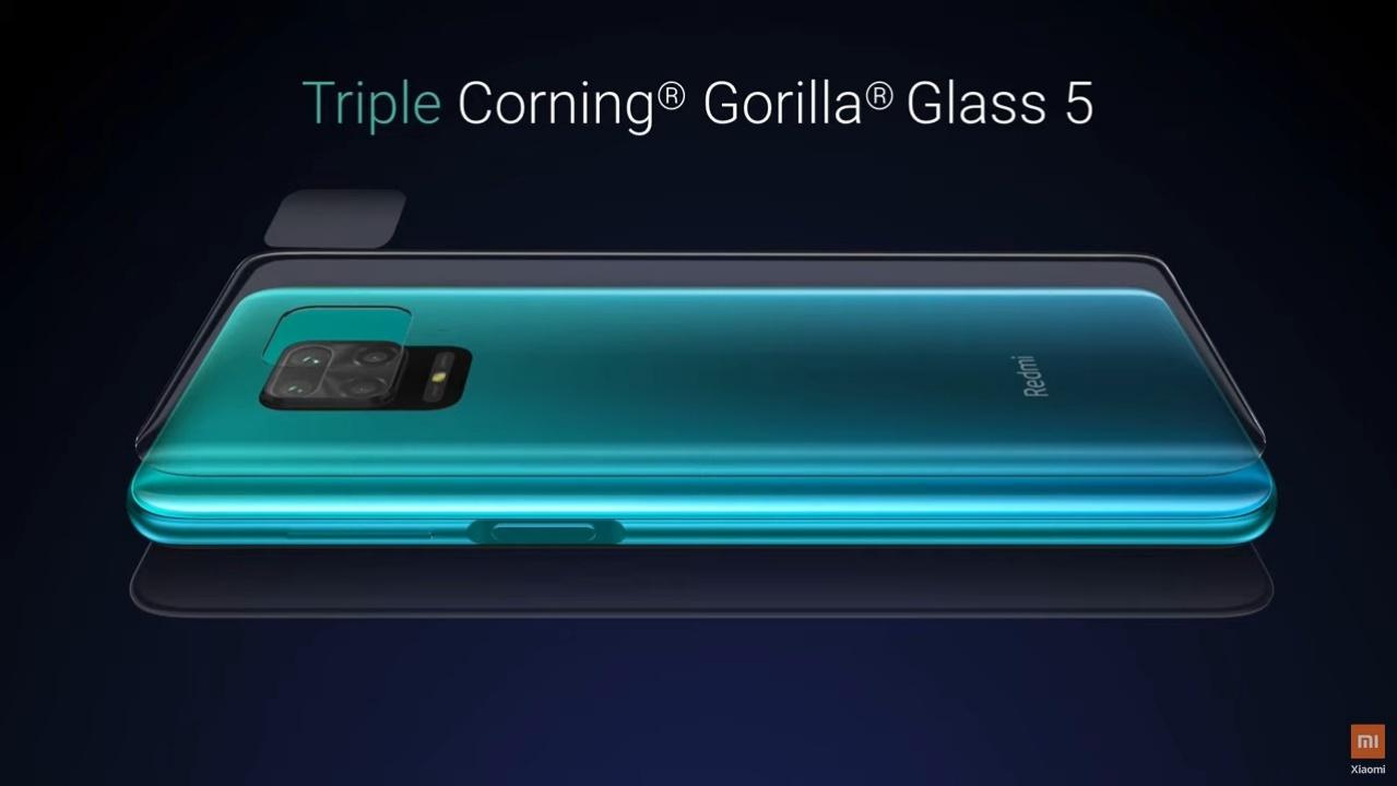 Perlindungan Triple Corning Gorilla Glass 5 Redmi Note 9 Pro