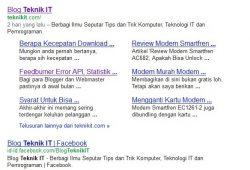 Blog Teknik IT Mendapatkan Sitelinks Dari Google Dalam Waktu 4 Bulan