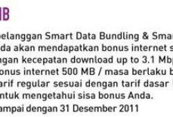 Menggunakan Bonus Internet 500 MB Smartfren Setelah Pengisian Pulsa Minimal 50 Ribu