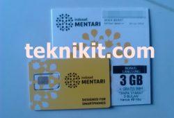 Perdana Mentari Super Data Kuota 3GB Cuma 7 Ribu