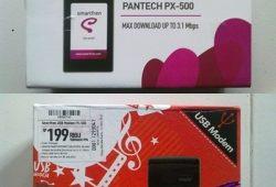 Review dan Penampakan Modem Pantech PX-500 Bundling Smartfren Terbaru